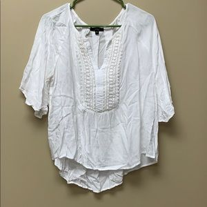 LIKE NEW Sheer Peasant Top Size Large